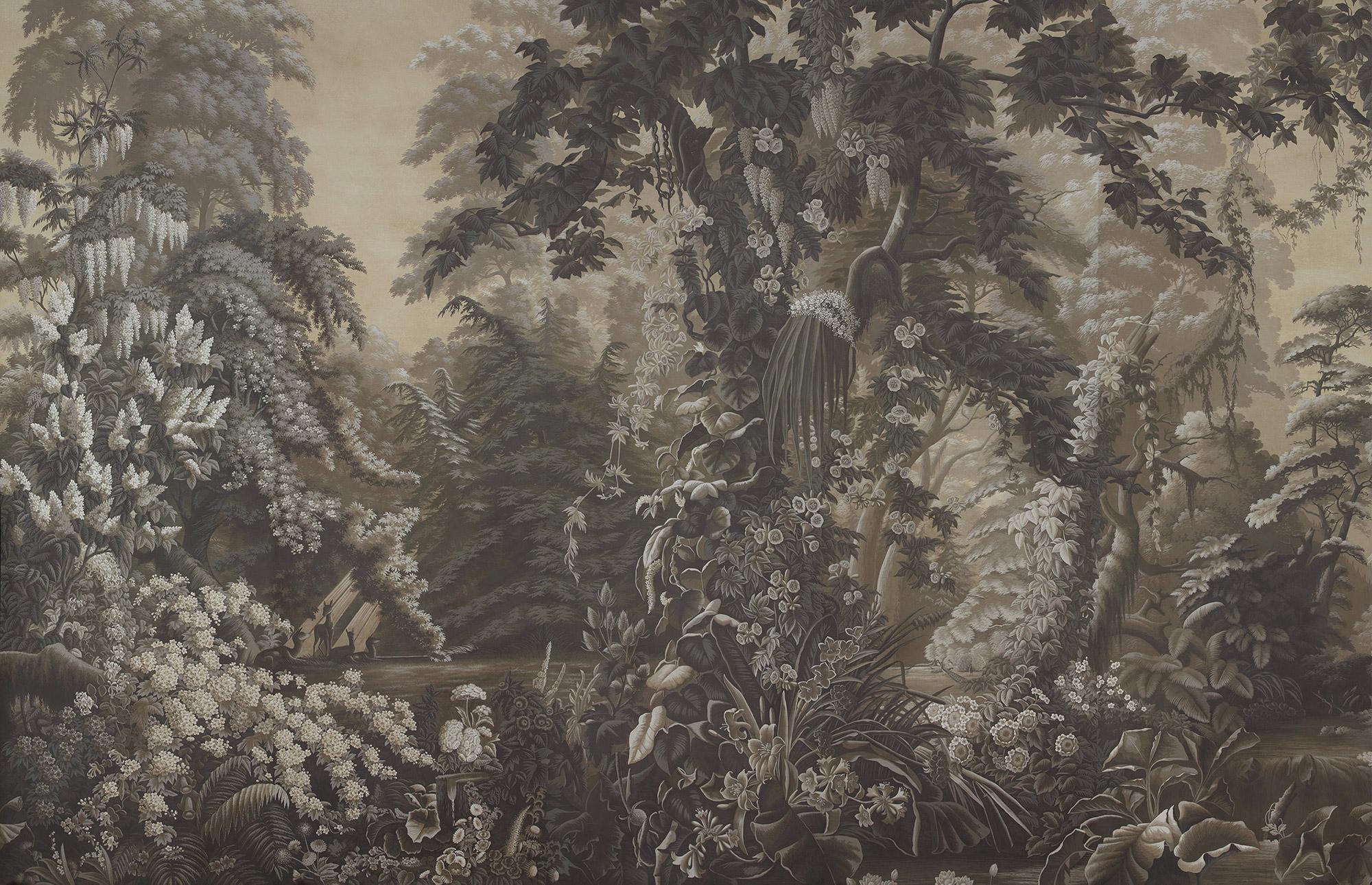Eau Forte on antique scenic Xuan paper