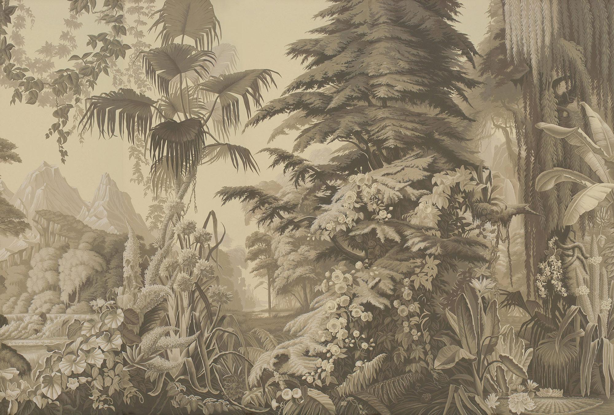 Terre Foncée on scenic paper