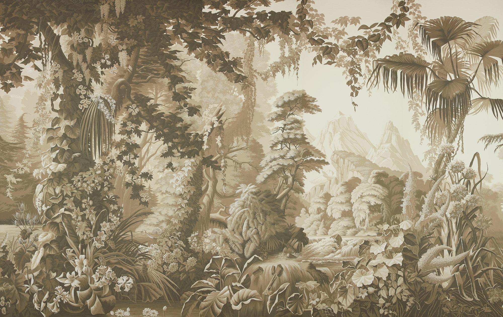 Sepia on scenic paper