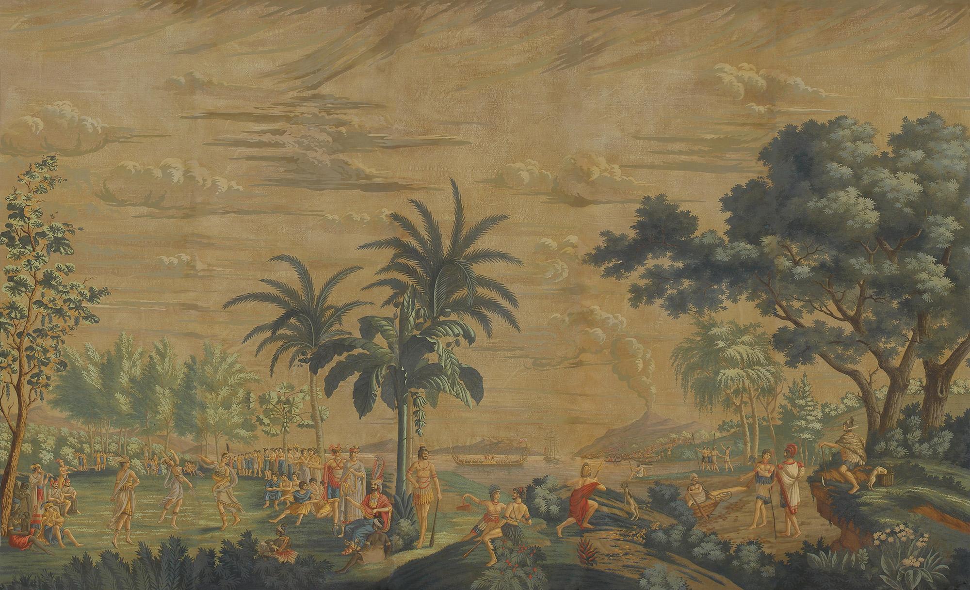 Charvet on antique scenic Xuan paper