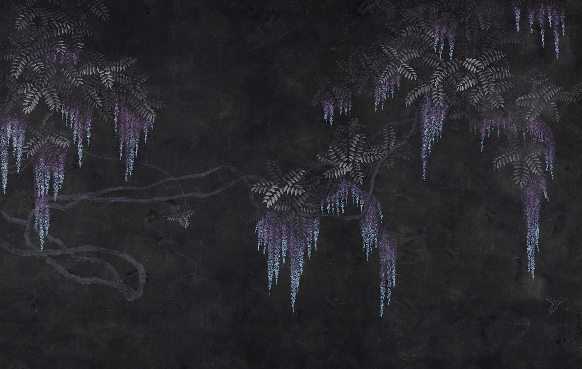Original on Edo Night painted Xuan paper
