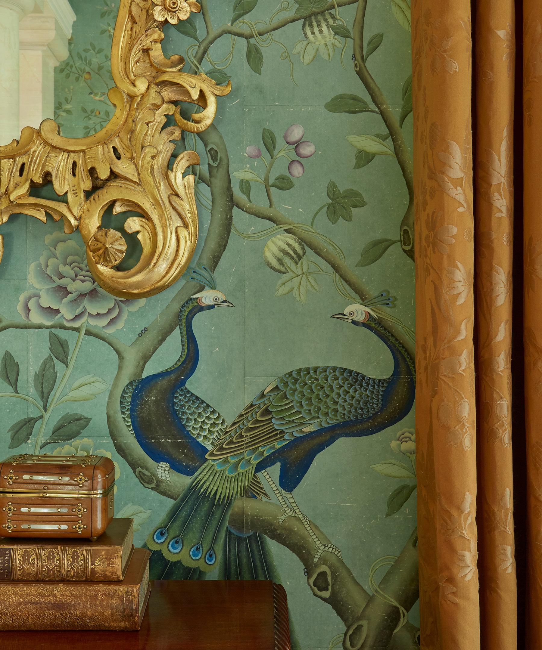 'St Laurent' in standard design colours on Edo Turquoise India tea paper