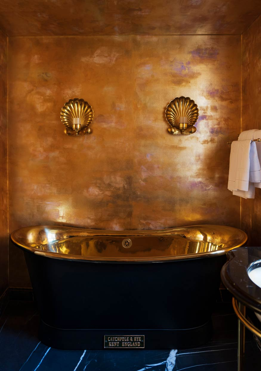 Deep Rich Gold gilded paper with bronze pearlescent antiquing